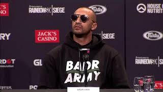 BADR HARI   Persconference about his #BadrArmy and his Coach Mikey