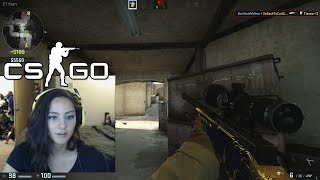 One of 2MGoverCsquared's most viewed videos: SHE IS A HACKER (CS:GO Comp)