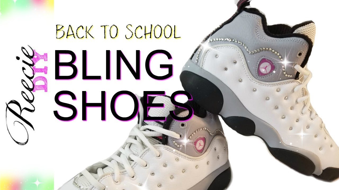 9b7037a75f17 How to add Rhinestones to Shoes - YouTube