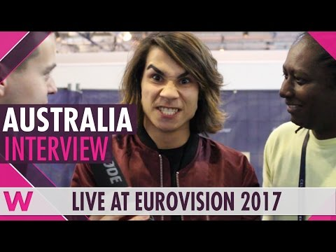Isaiah (Australia 2017) interview @ Eurovision 2017 | wiwibloggs