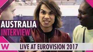 Isaiah (Australia 2017) interview @ Eurovision 2017 | wiwibloggs