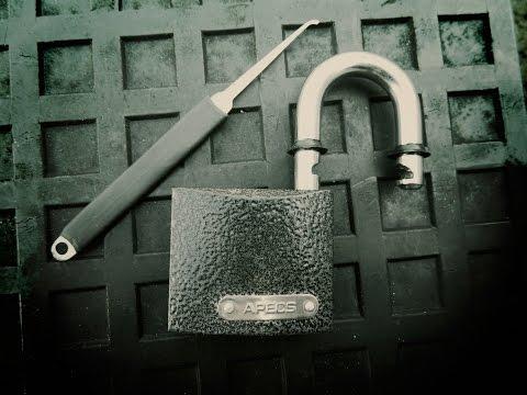 Взлом отмычками Апекс, Гард   Как открыть замок Apecs без ключа, как открыть навесной замок отмычкой