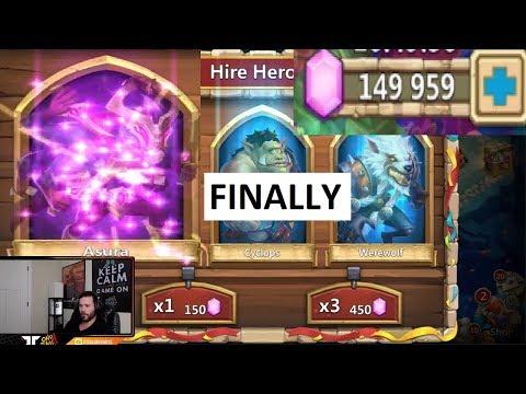 Rolling 150,000 Gems For new Hero ASURA Common ONETIME! Castle Clash