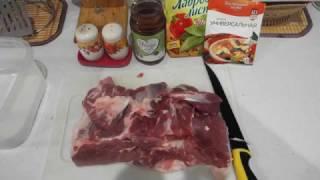 Жареное мясо кусками.