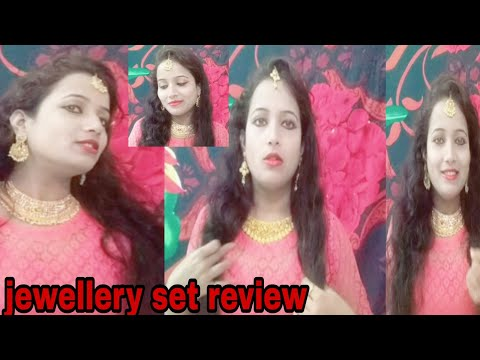 Amazon jewelry set review!apara bridal gold plated pearl Stone necklace!sukhi jewelry set for women!