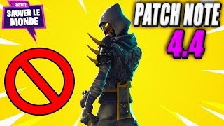 Patch Note 4.4: Reporting, Sniper - Mythical Hero! Fortnite Saving the World