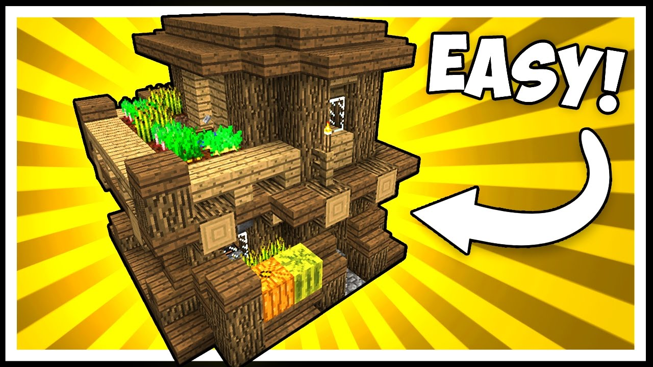 COMPACT  EFFICIENT WOODEN HOUSE  Minecraft Tutorial  YouTube
