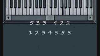 How to play Lightly Row on Piano - Music By Numbers Piano Lesson