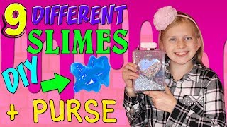 Glam Goo - 9 Different Kinds of Slime & Cute DIY Purse