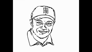 """How to Draw """"Tiger woods Face"""" pencil drawing step by step"""