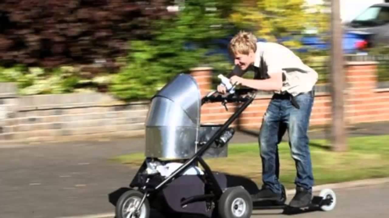 Schnellster Kinderwagen der Welt beschleunigt auf knapp 80 ...