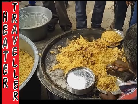 Indian hindu festival mutton biryani making for 80 people | lamb biriyani recipe : cooking biriyani