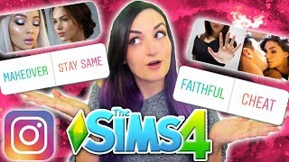My Instagram Followers Control My Sim's DRAMA | Sims 4 Challenge