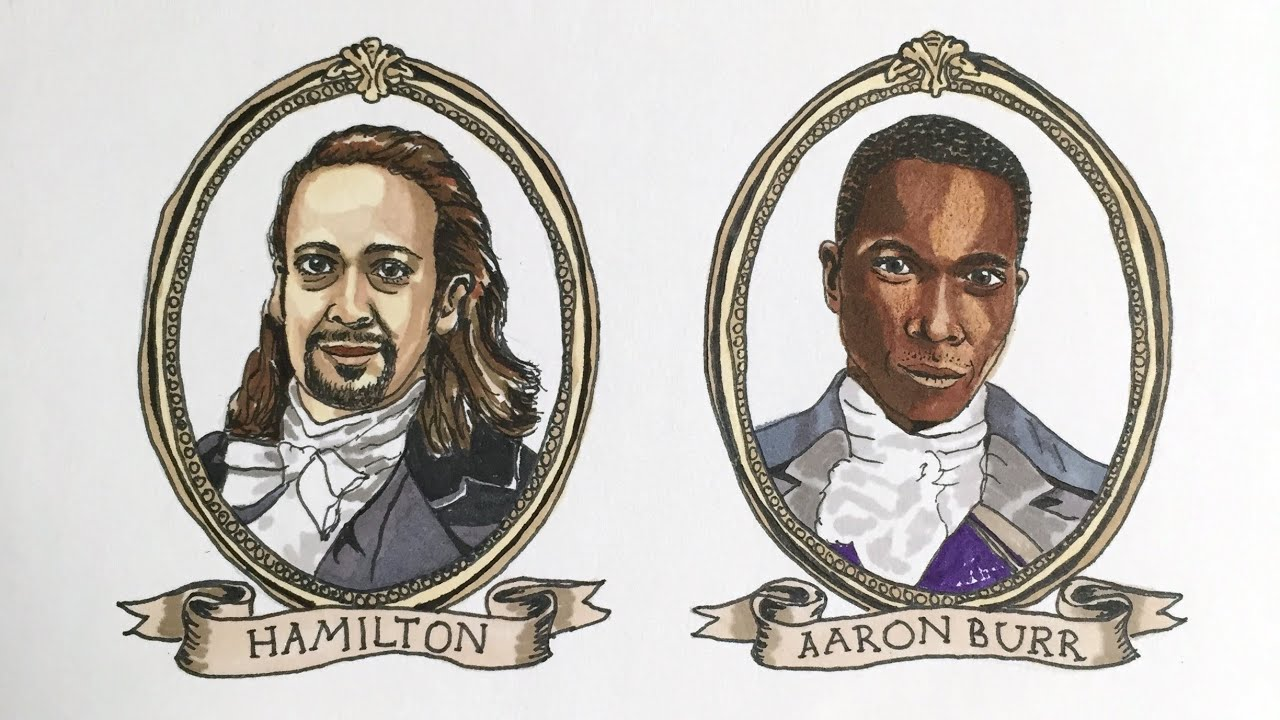 Leslie Odom, Jr. likes my Hamilton fan art! (Time-lapse portraits of Hamilton cast)