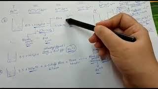 Class 11 & 12 Salt analysis