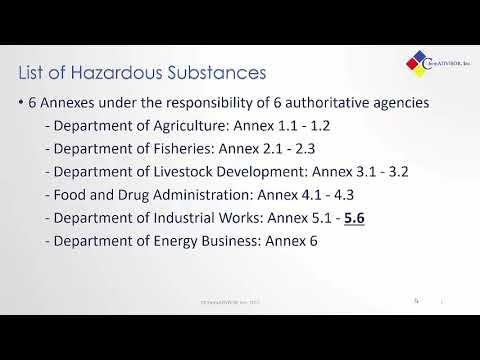 Thailand Chemical Regulations