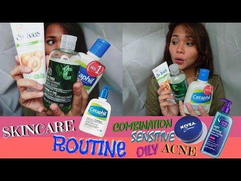 Perawatan Wajah Berminyak,Bruntusan & Jerawat/Skincare Routine For Combination&Sensitive│(Bahasa)