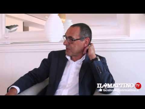 Napoli, intervista a Maurizio Sarri al Mattino