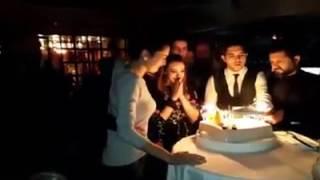 Halit Ergenc & Berguzar Korel at Miray Daner' birtday party