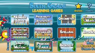 Sixth Grade Learning Games - App Preview