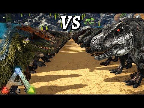 ARK YUTYRANNUS VS REX THE PERFECT FIGHT! Ark Survival Evolved Dino Battles Yuty vs T Rex!