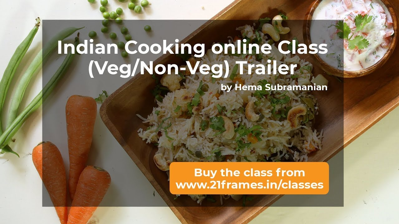 Indian Cooking Veg And Veg Non Veg Online Class Trailer Youtube