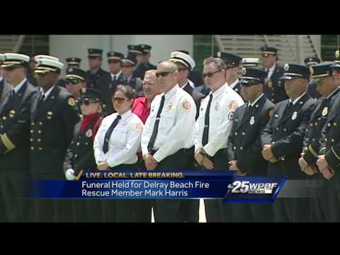 Funeral held for Delray Beach fire rescue member Mark Harris