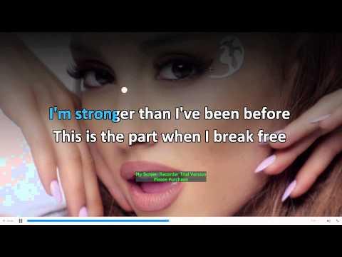 Ariana Grande   Break Free  Karaoke