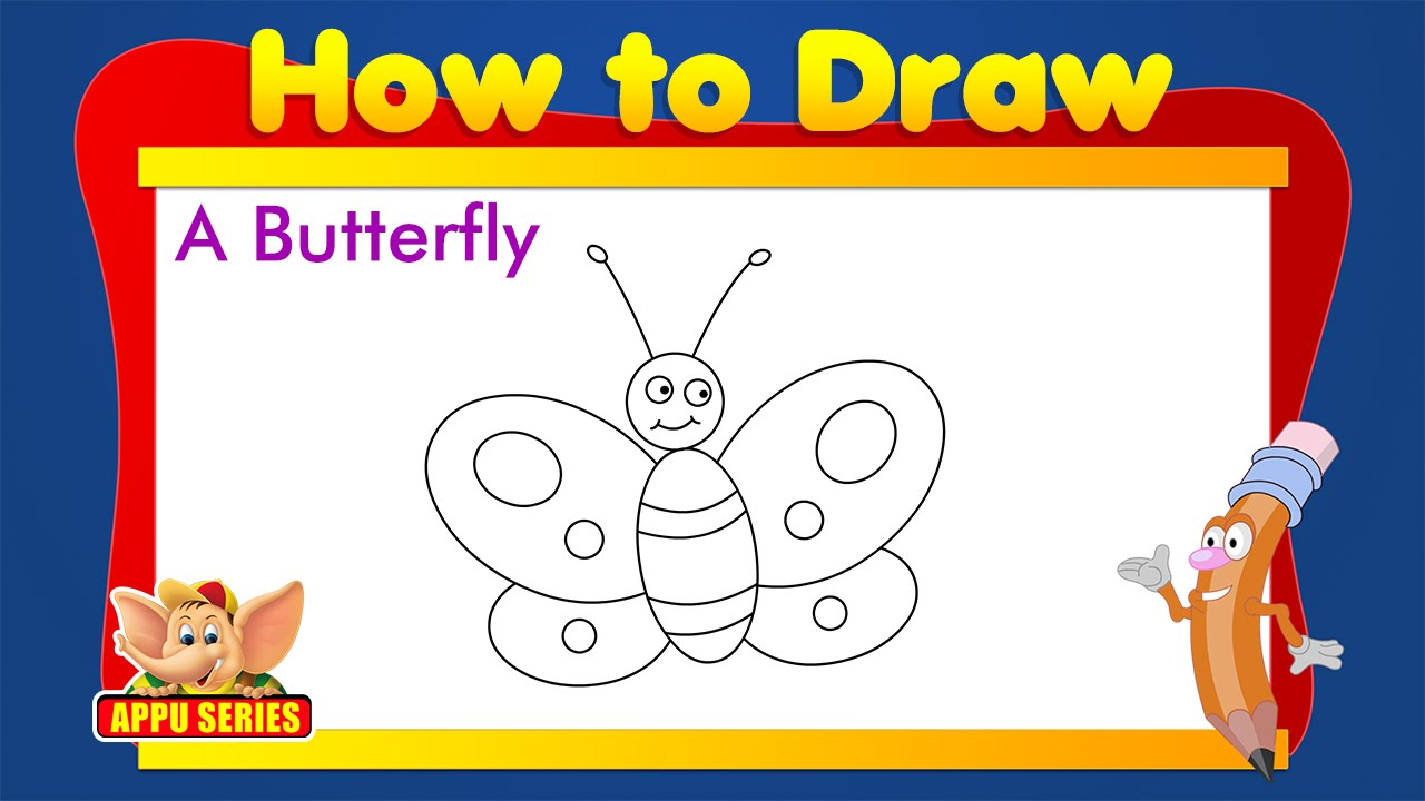 learn to draw animals butterfly youtube