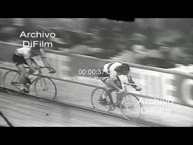 DiFilm - Rudi Altig y Patrick Sercu ganan los seis dias de Frankfurt 1968