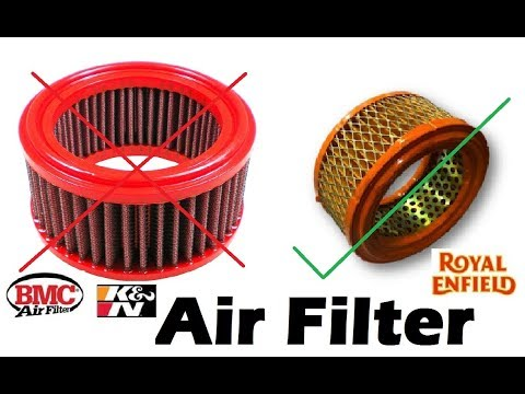 NOT to USE K&N & BMC Air Filter in Royal Enfield (Strong Reason)