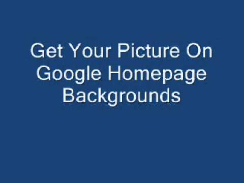 how to change your google homepage picture
