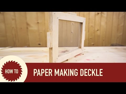 How to Make a Mold and Deckle For Paper Making