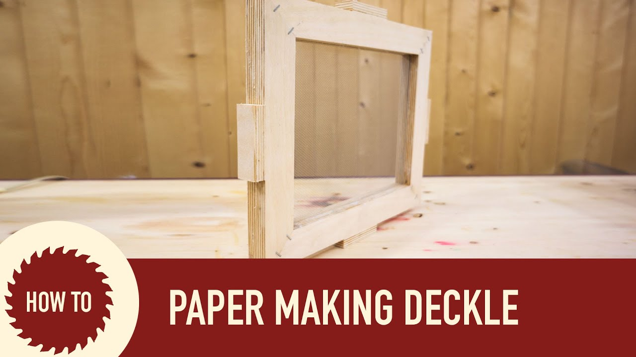 How to make a mold and deckle for paper making youtube for How to make something with newspaper