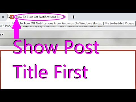 Showing Post Title First While Opening Blog Post On A Browser Tab Title & In Google Search