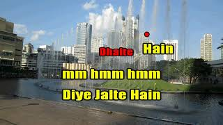 DIYE JALTE HAIN KARAOKE WITH LYRICS