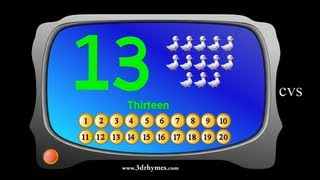 Learn Numbers for Children  - 3D Animation Counting 1-20 Numbers song