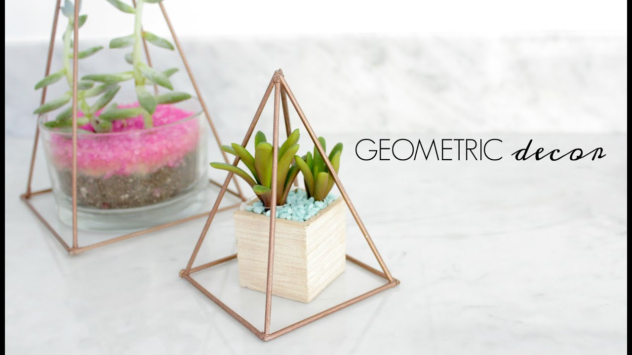 Easy Diy Copper Geometric Decor 5 Youtube