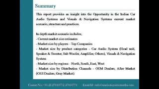 Indian Car Audio System and Visuals & Navigation Systems Market