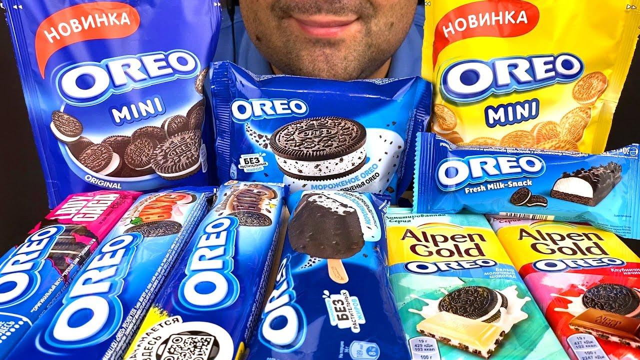 ASMR Oreo Party (Ice Cream, Chocolate & Cookies) Mukbang Eating Sounds
