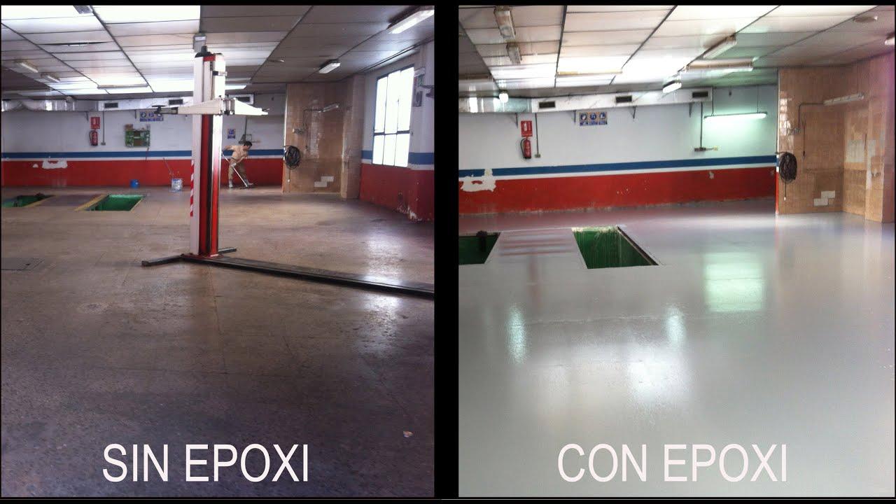 Reparar suelo taller pintar suelo taller epoxi youtube - Pintura de suelos ...