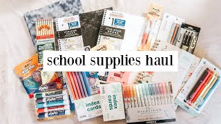 school supplies haul + giveaway 2020 *college student edition*
