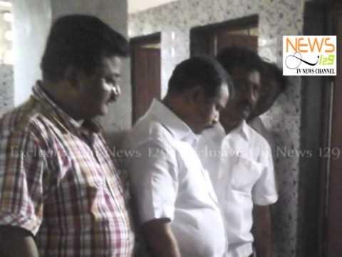 Cleanliness Inspection by the Mayor at Nana sahib Dharmadhikari Library.