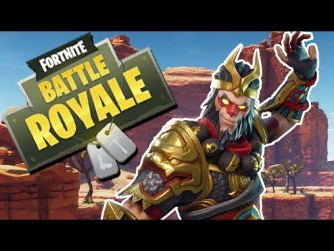 Fortnite Battle Royale Gameplay German - Legendary Wukong Skin