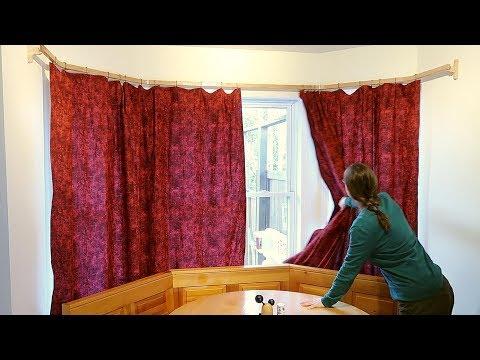 Around-the-corner curtain rod