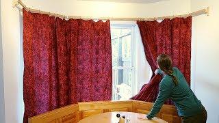 around the corner curtain rod