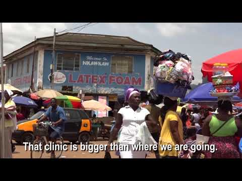Getting to this rural health clinic in Ghana is not easy