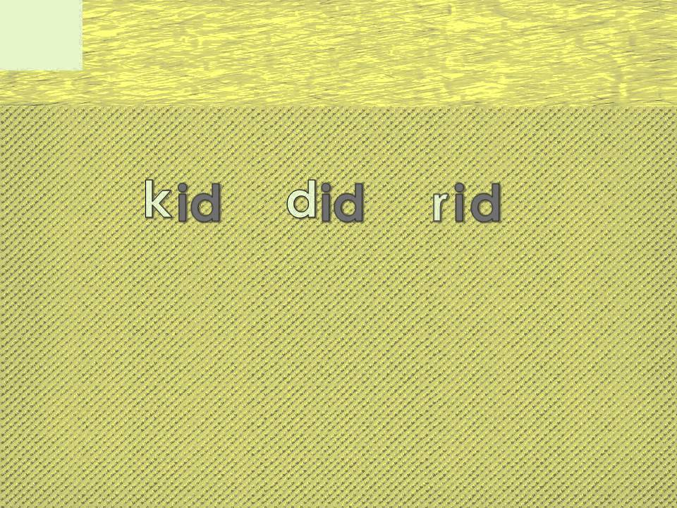 3 Letter Spelling Words Ending With Id Part 1 Youtube