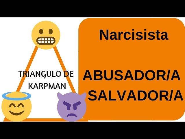 La persona NARCISISTA,  es tu ABUSADORA y tu SALVADORA :TRIANGULO DE KARPMAN