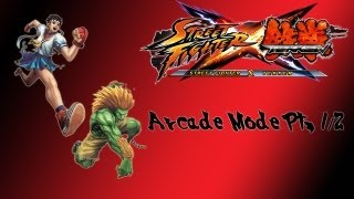 Street Fighter X Tekken Arcade Mode Sakura Blanka Pt 1 2